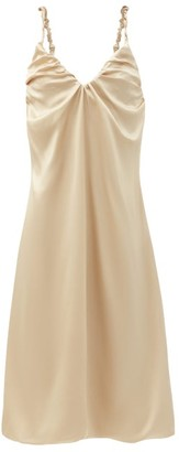 Dodo Bar Or Libi Ruched Silk Dress - Beige