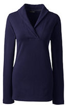 Classic Women's Petite Starfish Shawl Collar Top-True Navy