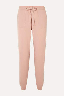 Allude Wool And Cashmere-blend Track Pants - Beige