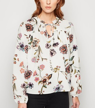 New Look JDY Floral Frill Neck Blouse
