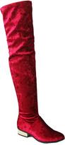 Bamboo Red Velvet Stardom Boot