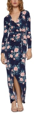 BCBGeneration Floral-Print High-Low Gown
