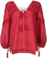 Derek Lam 10 Crosby drawstring blouse - women - Silk/Cotton - 0