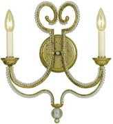 AF Lighting Camerson 2-Light Soft Gold Sconce with Glass Bead Accents