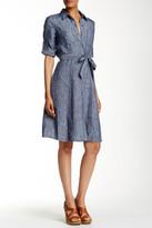 Max Studio Linen Shirt Dress