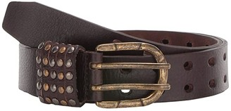 Lodis All Over Perf w/ Studded Loops Belt (Brown) Women's Belts