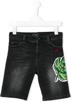 Dolce & Gabbana denim shorts - kids - Cotton/Calf Leather/Spandex/Elastane/Zamak - 5 yrs