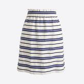 J.Crew Factory Striped cotton-linen sidewalk mini skirt