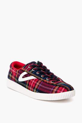 Tretorn Red Tartan Plaid Nylite28Plus Sneakers