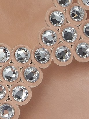 Aquazzura Tequila Crystal-Embellished Leather Sandals