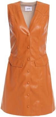 Nanushka Vegan Leather Mini Dress