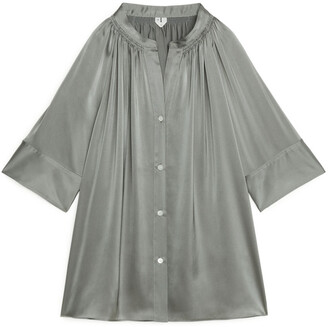 Arket Short-Sleeve Satin Blouse