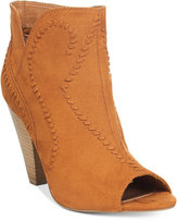 XOXO Celia Whipstitch Western Ankle Booties