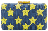 Kayu Embroidered Star Shell Clutch