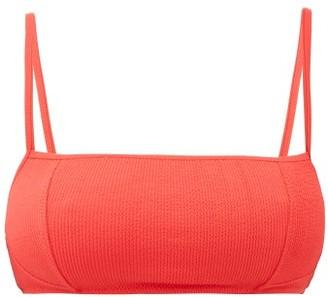 Ganni Square-neck Ribbed Bikini Top - Red