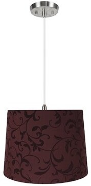 Winston Porter Haxby 1 - Light Single Drum Pendant Shade Color: Red