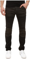 G Star G-Star 5620 3D Slim Pattern Mix in Slander Black Super Stretch Dark Aged