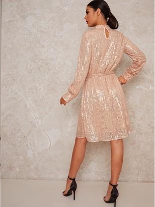 Chi Chi London Johanah Dress - Rose Gold