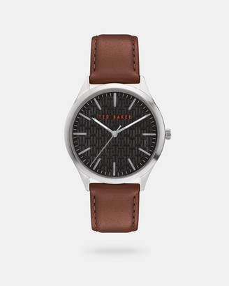 Ted Baker MANHAAB Pebble grain leather strap watch