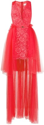 Elisabetta Franchi Tulle And Lace Dress