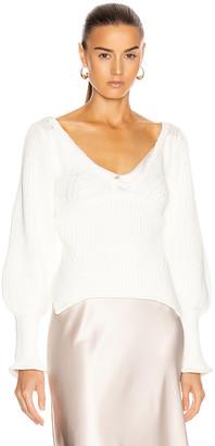 Jonathan Simkhai Gabriella Rib Sweater in White | FWRD