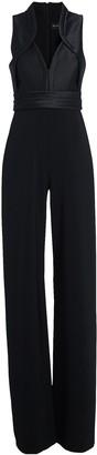 Brandon Maxwell Sleeveless Crepe Wide-Leg Jumpsuit