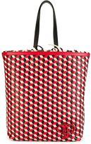 Emilio Pucci geometric pattern frilled shoulder bag