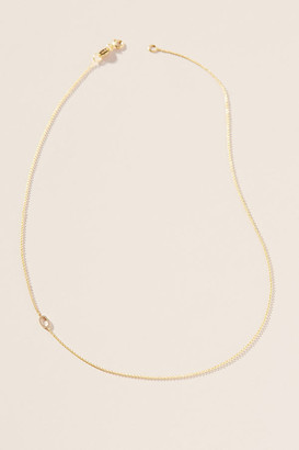 Maya Brenner 14K Gold Asymmetrical Numeral Necklace By in Assorted