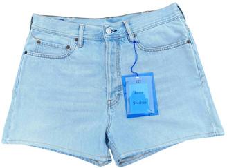 Acne Studios Blue Denim - Jeans Shorts