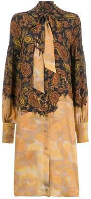 Rokh mixed paisley print dress