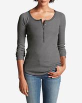 Eddie Bauer Women's Stine's Favorite Waffle Henley Shirt - Solid
