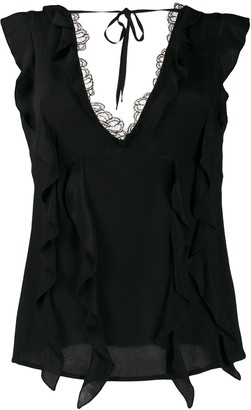 Class Roberto Cavalli Lace Trimmed Top