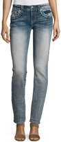 Miss Me Straight-Leg Embellished Pocket Jeans, Light Blue 81