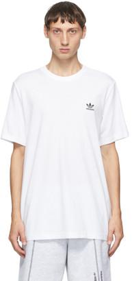 adidas White Trefoil Essentials T-Shirt