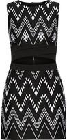DKNY Cutout embroidered cotton-blend mini dress