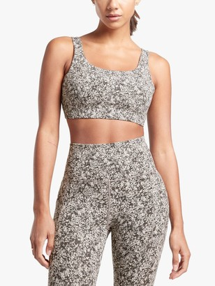 Athleta Exhale Moon Flower Jacquard D-DD Cup Bra
