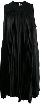 Comme des Garcons Pleated Panel Midi Dress