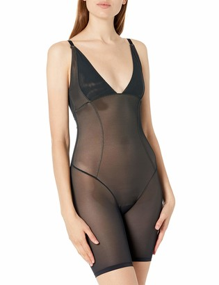 Arabella Women's Firm Control Open Bust Bodysuit Shapewear