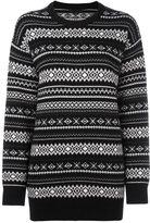 Alexander Wang perforated Nordic knit jumper
