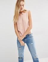 MANGO Boxy Sleeveless Shirt