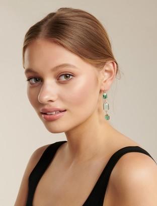 Ever New Freja Triple Drop Stone Earrings