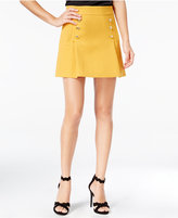 XOXO Juniors' Button-Front Mini A-Line Skirt