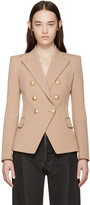Balmain Tan Double-Breasted Blazer