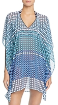 Tommy Bahama Pool Tiles V-Neck Tunic Swim Cover-Up