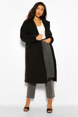 boohoo Wool Look Boyfriend Coat