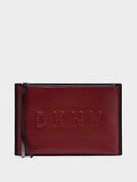 DKNY Neoprene Bonded Lamb Nappa Leather Clutch