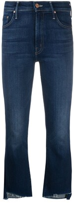 Mother Raw-Cuff Mid Jeans