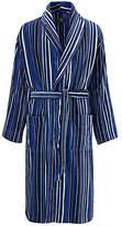 John Lewis & Partners Cotton Velour Stripe Robe, Blue