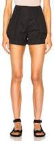 Etoile Isabel Marant Ivy Cotton Linen Shorts in Black.