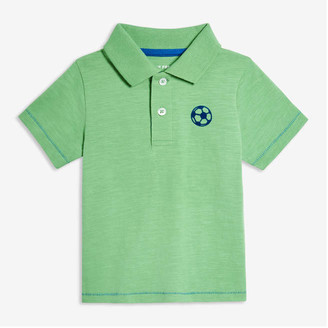 Joe Fresh Baby Boys' Chest Graphic Polo, Green (Size 3-6)
